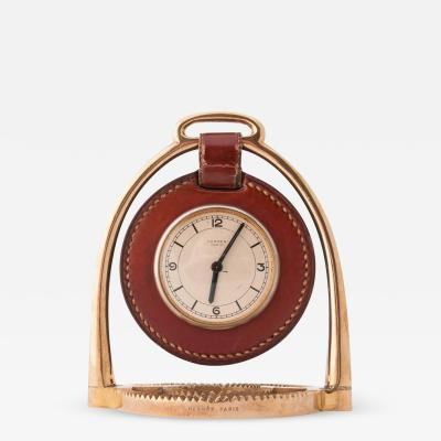 Herm s Herm s Stirrup Clock Designed by Paul Dupr Lafon
