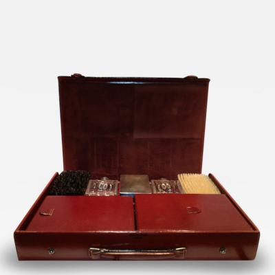 Herm s Hermes Mens Leather Deco Travel Case