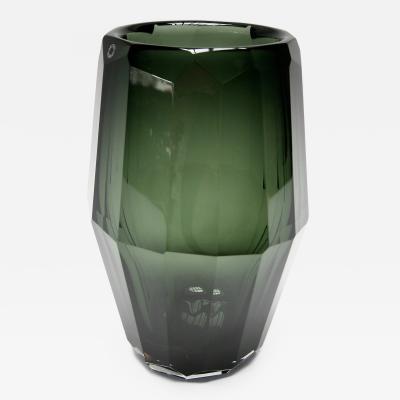 Herm s Hermes Murano Green Glass Vase