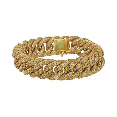 Herm s Hermes Paris Two Tone Gold Bracelet