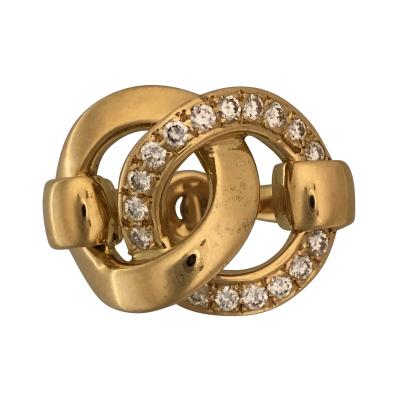 Herm s Hermes gold and diamond ring