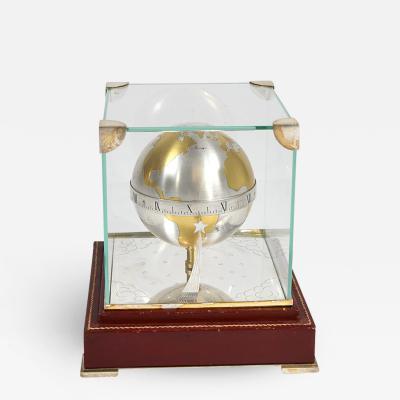 Herm s Rare Globe Table Clock