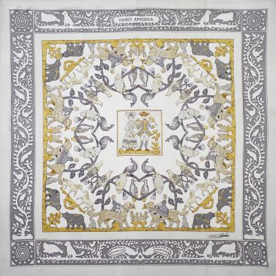 Herm s Silk Scarf Early America