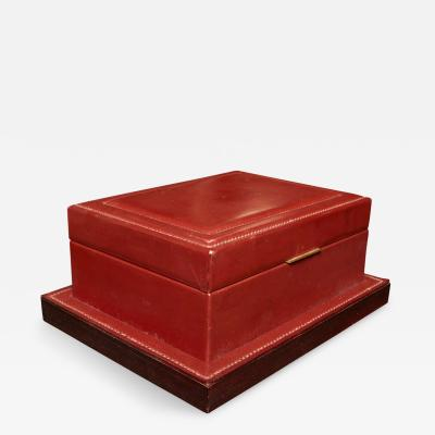 Herm s Very nice Stitched Leather box Designed by Dupr Lafon for Maison Hermes