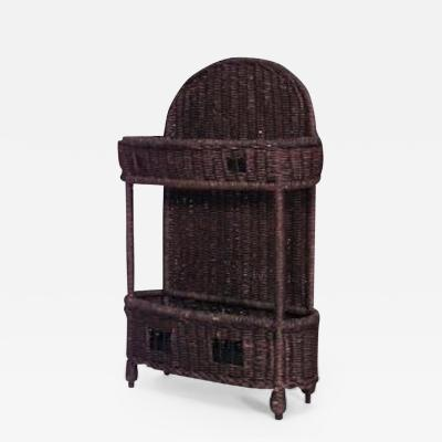Heywood Wakefield American Victorian Natural Wicker Umbrella Stand