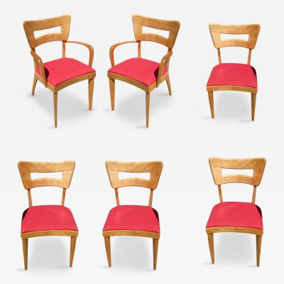 Heywood Wakefield Heywood Wakefield M154 DogBone Dining Chairs Set of Six