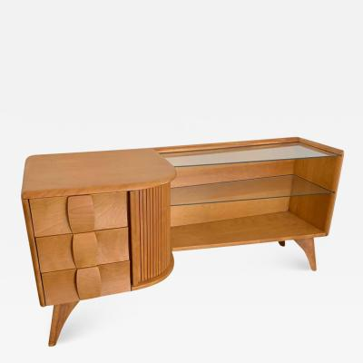 Heywood Wakefield Heywood Wakefield Sculptura Asymmetric Low Cabinet or Credenza