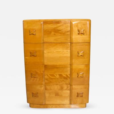 Heywood Wakefield Mid Century Modern Pair Heywood Wakefield Highboy Rio Dressers Chest Maple 1940