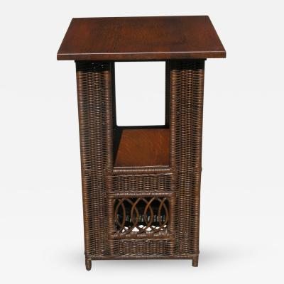 Heywood Wakefield Mission Wicker Table