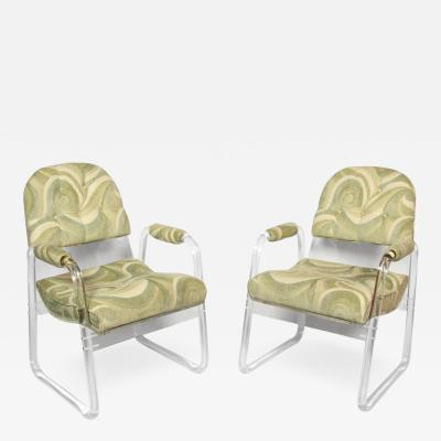 Hill Manufacturing Pair of Hill Industries Lucite Lounge Chairs circa 1970