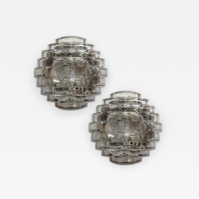 Hillebrand Art Glass Wall Lights by Hillebrand