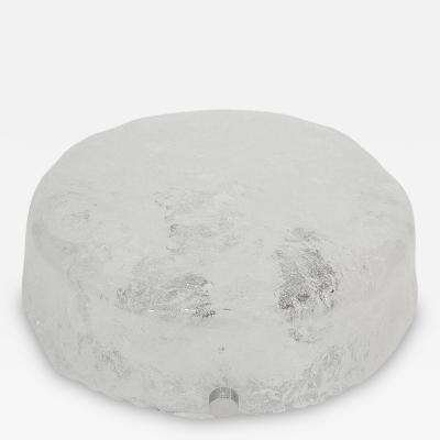 Hillebrand Hillebrand Ice Glass Flush Mount
