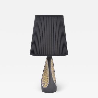 Holm Sorensen Black Danish Mid Century Ceramic Table Lamp by Holm Sorensen for S holm