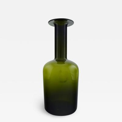 Holmegaard Huge vase bottle Bottle green