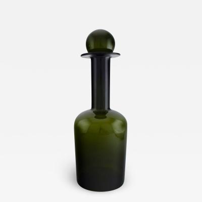 Holmegaard Huge vase bottle with lid in the shape of ball Bottle green