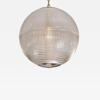 Holophane 1960s US Holophane ball ceiling pendant