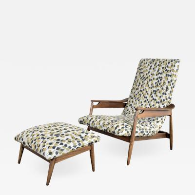 Home Chair Company Mcm scandinavian modern style high back lounge chair ottoman