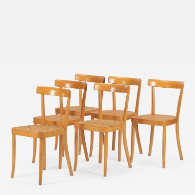 Horgen Glarus 6 Wohnbedarf model 3 Moser chairs Horgen Glarus 30s