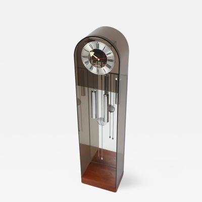 Howard Miller Howard Miller Smoked Lucite Grandfather Clock Circa 1970s