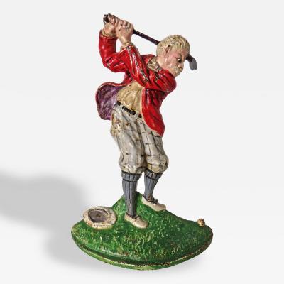 Hubley Doorstop Golfer by Hubley Circa 1920