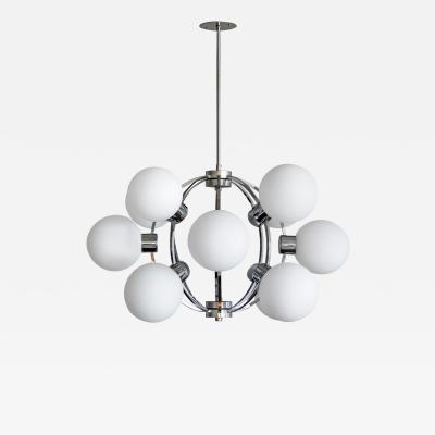 Hustadt Leuchten German XL Atomic Chandelier 1970