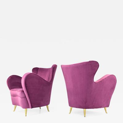 I S A Pair of Mid Century Armchairs by ISA Bergamo 1950s