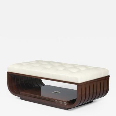 ILIAD Bespoke A Modernist style Upholstered Ottoman by ILIAD Design