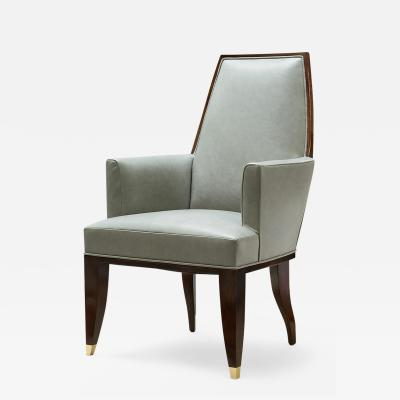 ILIAD Bespoke Armchair in the manner of Jacques Quinet