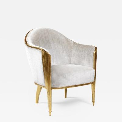 ILIAD Bespoke Art Deco Inspired Armchair after Leleu