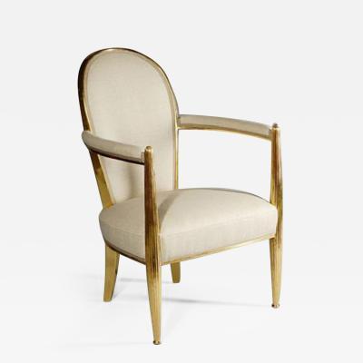 ILIAD Bespoke French Art Deco Inspired Gilt Armchair