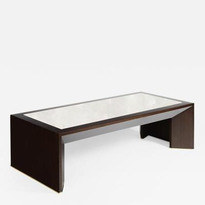 ILIAD Bespoke French Modernist inspired Wood and Onyx Coffee Table