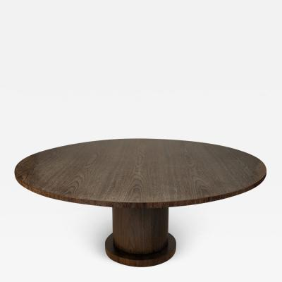 ILIAD Bespoke Modernist Breakfast Table with Cylindrical Base by ILIAD Design
