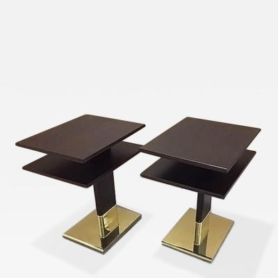 ILIAD Bespoke Pair of Art Deco inspired End Tables