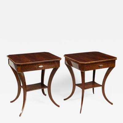 ILIAD Bespoke Pair of Biedermeier Style Side Tables
