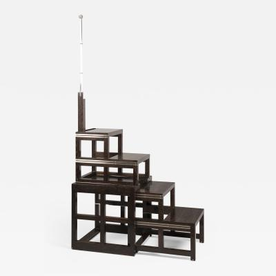 ILIAD DESIGN A Collapsable Set of Library Steps after a Design by Josef Hoffmann