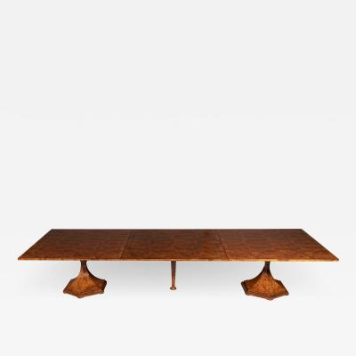 ILIAD DESIGN A Monumental Biedermeier Inspired Combination Dining Table by ILIAD Design