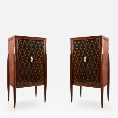 ILIAD DESIGN A Pair of Art Deco Style Fireside Cabinets by ILIAD Design