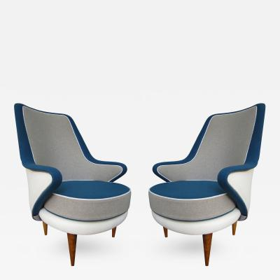 ISA A Pair of Armchairs by ISA Italy 1960