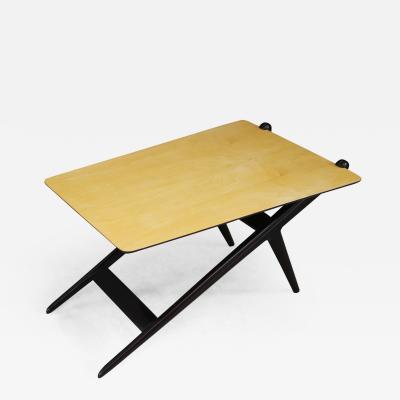 ISA Bergamo I S A Italy Coffee table MidCentury by ISA BERGAMO in wood ebonized 1950s