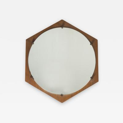 ISA Bergamo I S A Italy Hexagonal Mirror 1960s