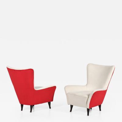ISA Bergamo I S A Italy Pair of Isa Bergamo armchairs of 1950 with label