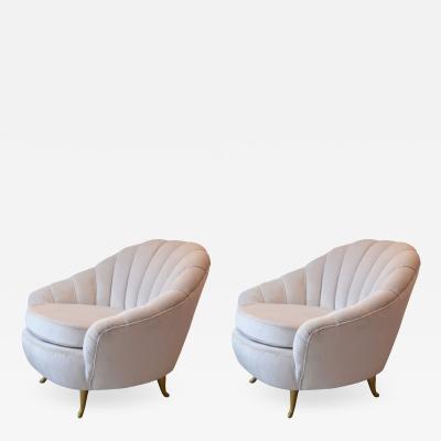 ISA Bergamo I S A Italy Pair of Isa armchairs