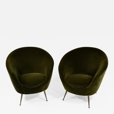 ISA Bergamo I S A Italy Pair of chic egg chairs