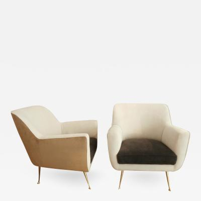 ISA Pair of Armchairs by ISA Manufacture Italy 1960s