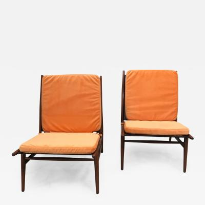ISA Pair of ISA Italian Club Chairs
