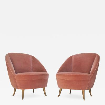 ISA Pair of Side Chairs for I S A Bergamo 1950s