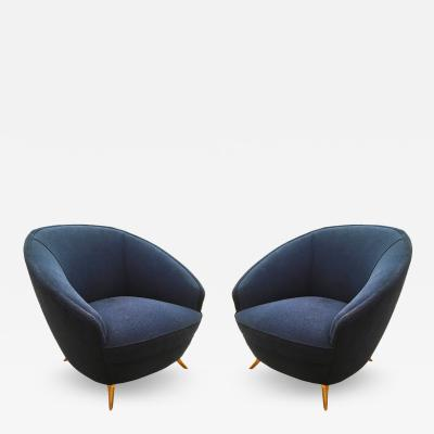 ISA Round Mid Century Armchairs by ISA