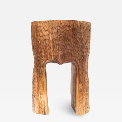 Ian Love Design Black Walnut Stool With Chattered Design