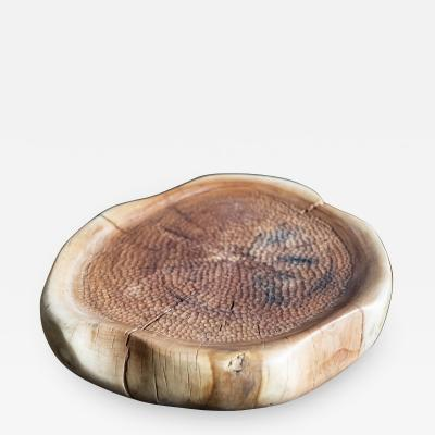 Ian Love Design Sycamore Vessel With Chattered Wood Design