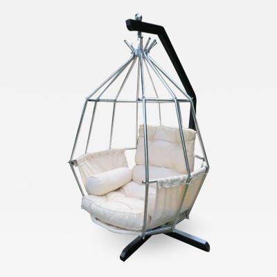 Ib Arberg Fantastic Ib Arberg Hanging Parrot Mid Century Modern Birdcage Chair
